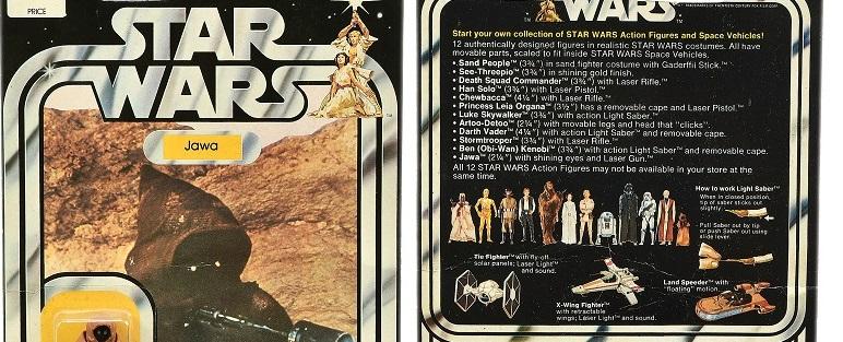 A vintage vinyl Jawa Star Wars figure