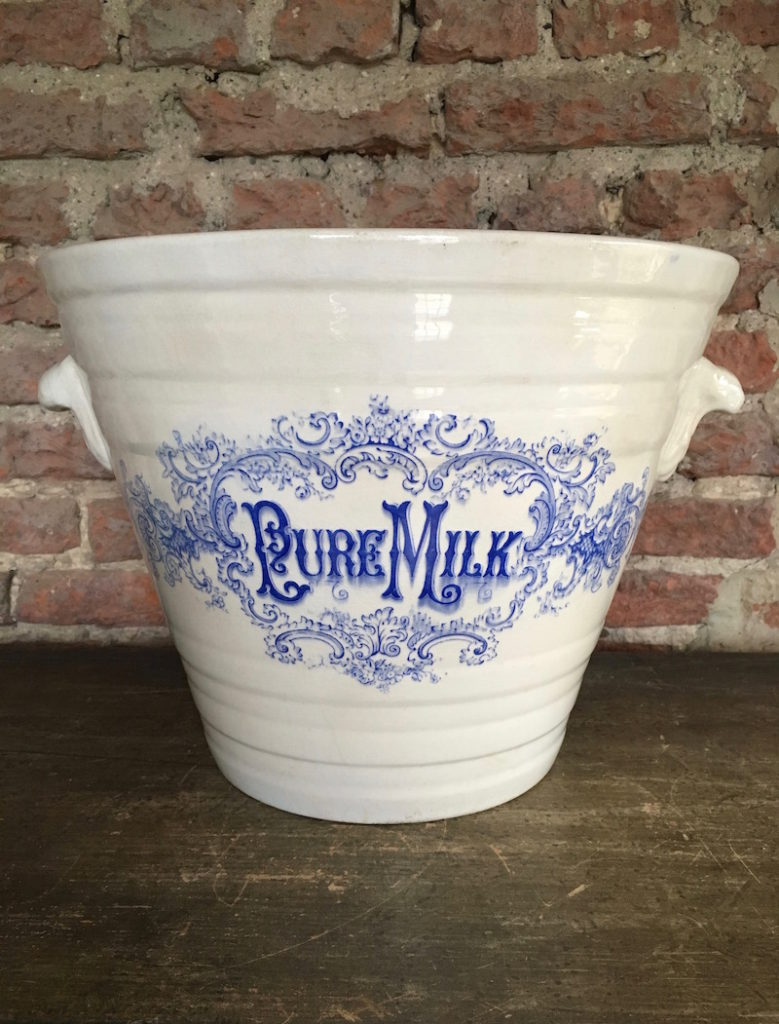 A late-Victorian milk pail
