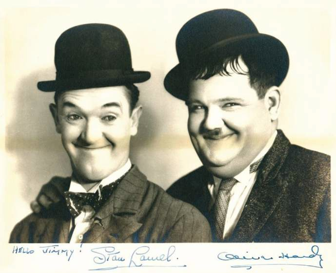 photograph of Stan Laurel and Oliver Hardy