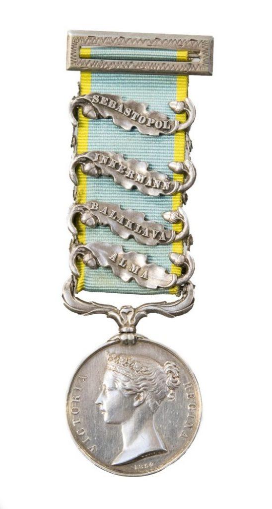 An antique Crimean medal