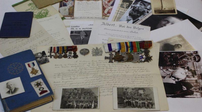 A collection of antique militaria