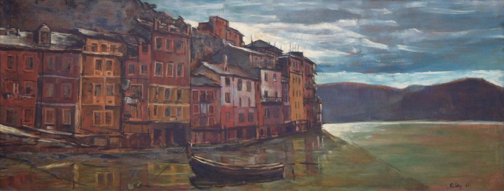 Italian fishing village by Harold Riley