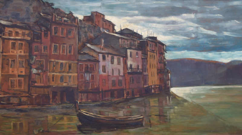 Italian fishing village by Harold Riley