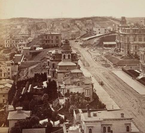 Panoramic photograph of San Francisco
