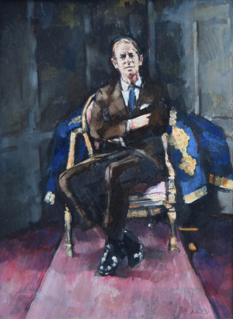 Prince Philip portrait by Harold Riley