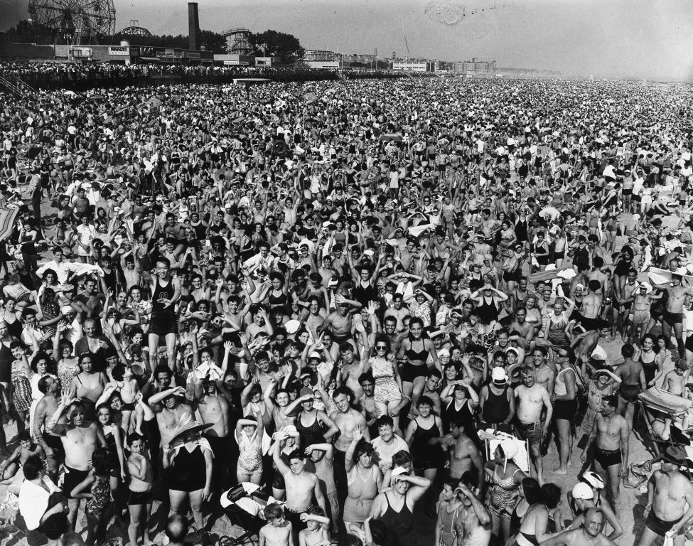 Weegee photograph of Coney Island