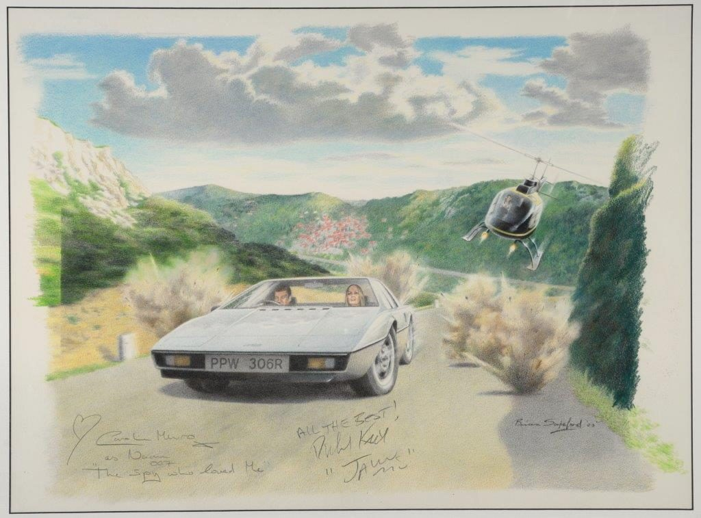 An original painting by Brian Sapsford, from the James Bond film 'The Spy Who Loved Me