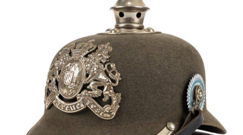 German First World War pickelhaube helmet