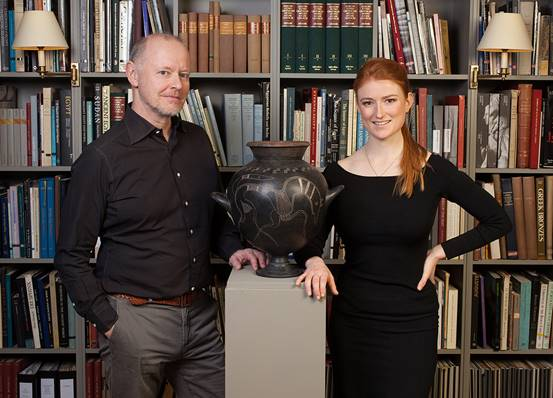 Martin Clist and Charis Tyndall of Charles Ede Ltd