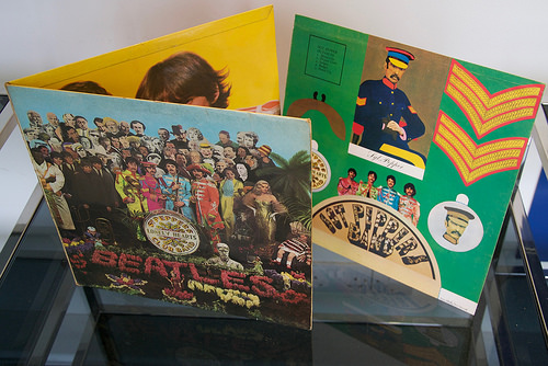 The Beatles Sgt Pepper's Lonely Hearts Club Band on vinyl