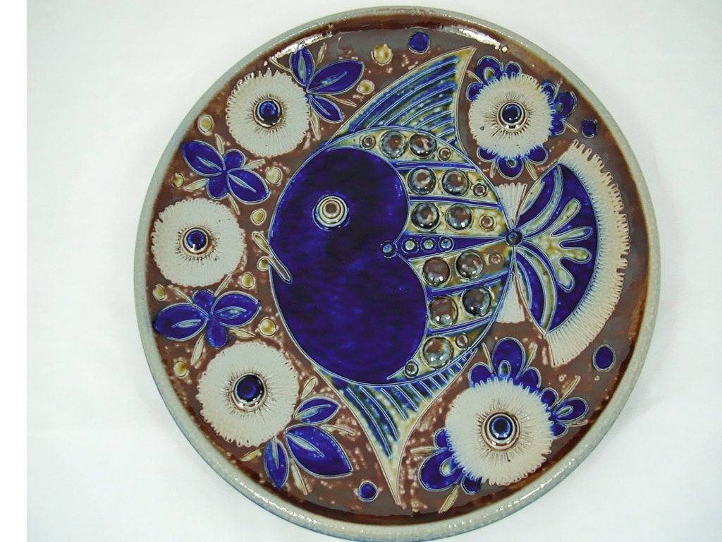 An oval plate by Balzar Kopp