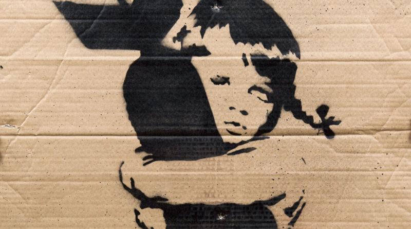 A work by street artist Banksy