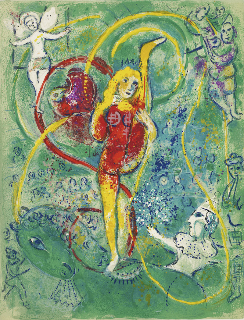 Lithograph from Marc Chagall's Cirque