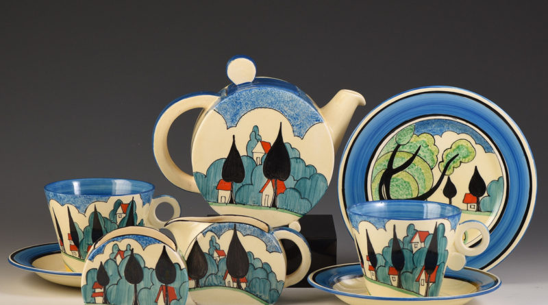Clarice Cliff tea set