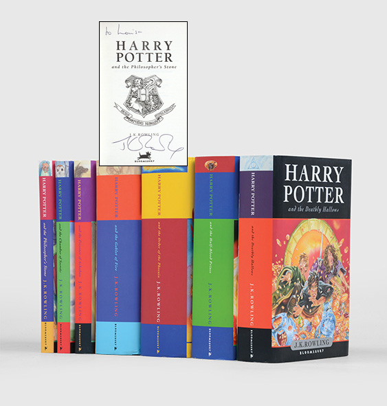 Harry Potter inscribed by JK Rowling