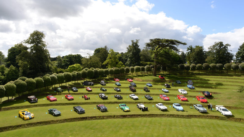 Classic cars at Heveningham Hall Concours d'Elegance