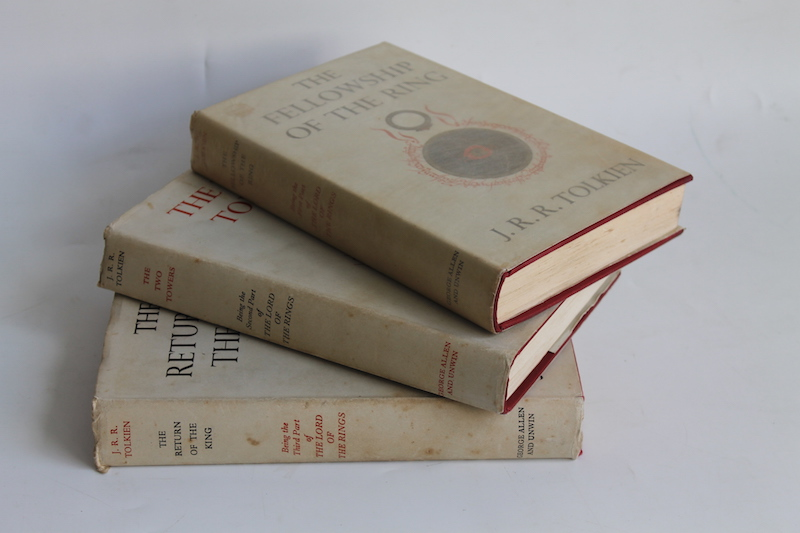 First Edition The Lord of the Rings trilogy