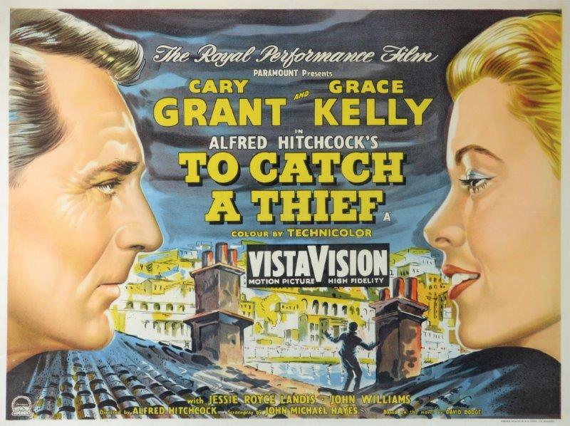 Alfred Hitchcock's To Catch a Thief poster