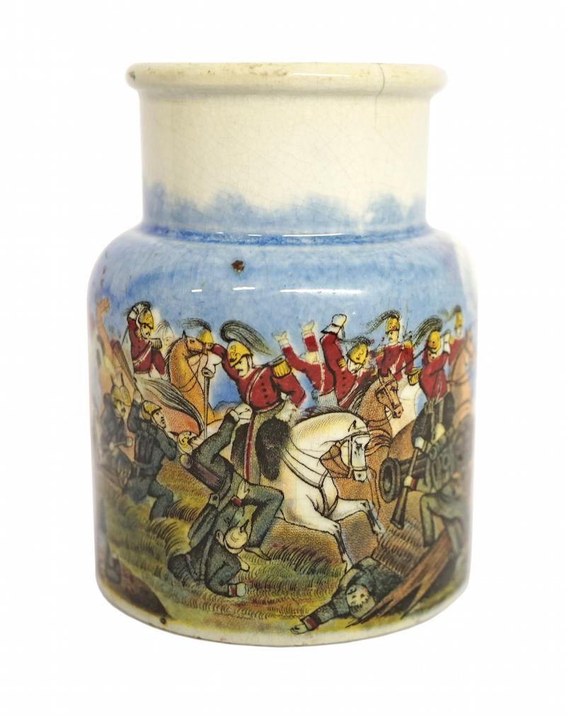 Crimean Period, Meat Paste Jar, Prattware, 1850s