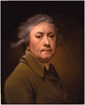 self-portrait of 18th Century British artist Joseph Wright of Derby