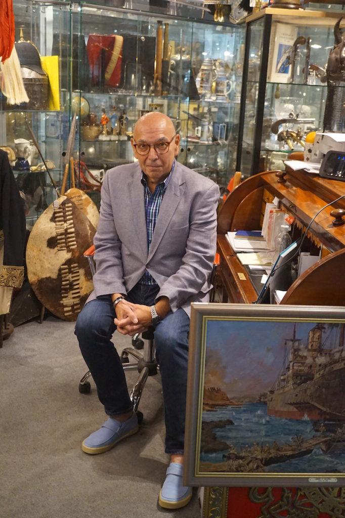 Leon Shrier of military antiques