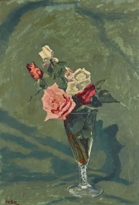 Rose in a Glass Vase by Winston Churchill