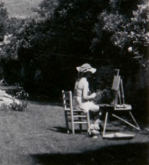 Vivien Leigh painting