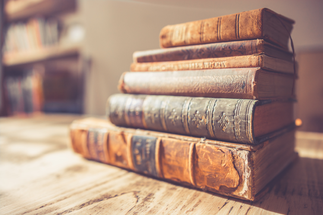 A selection of antique books