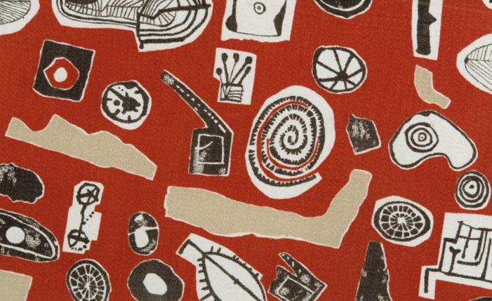 Eduardo Paolozzi (1924-2005) Collage Elements, 1952, screen printed Rayon,