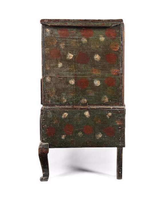 George II painted oak chest