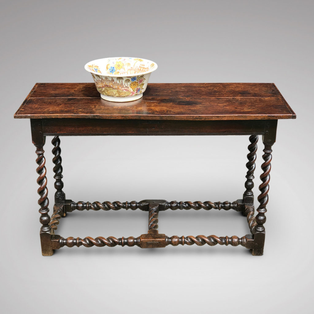An antique table