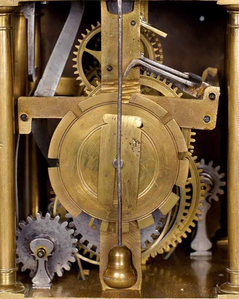 Inner workings of antique clock