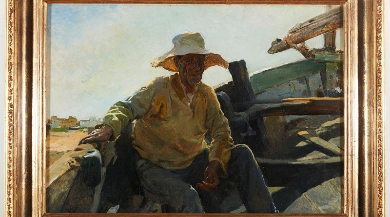 Old Fisherman in a Boat