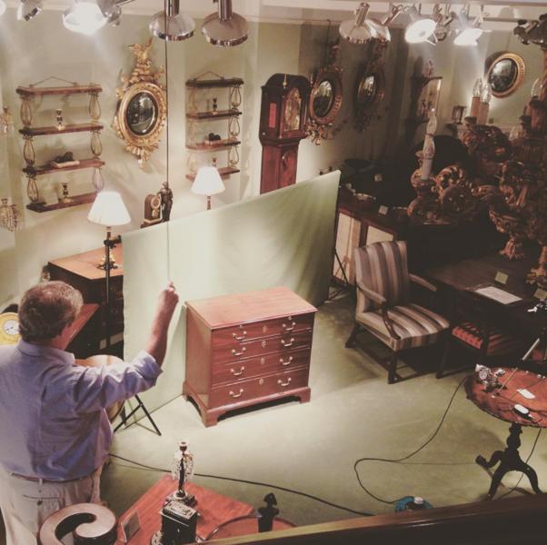 Photographing antique furniture