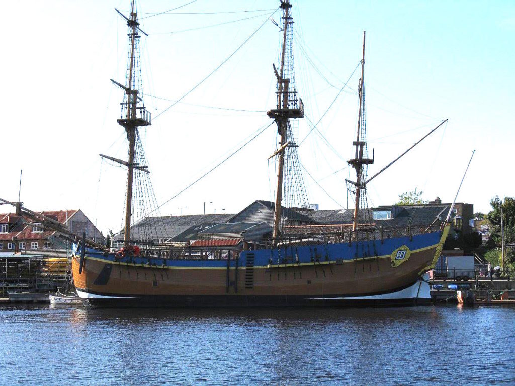 Replica of Captain Cook's HM Bark Endeavour
