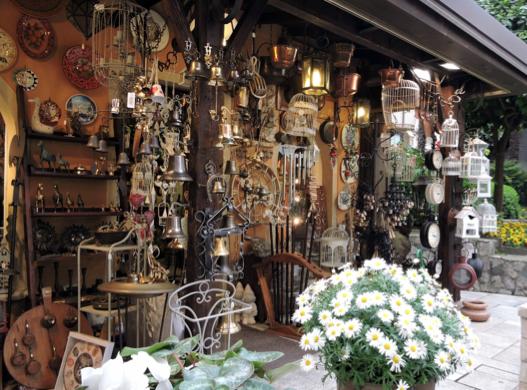 An antiques shop
