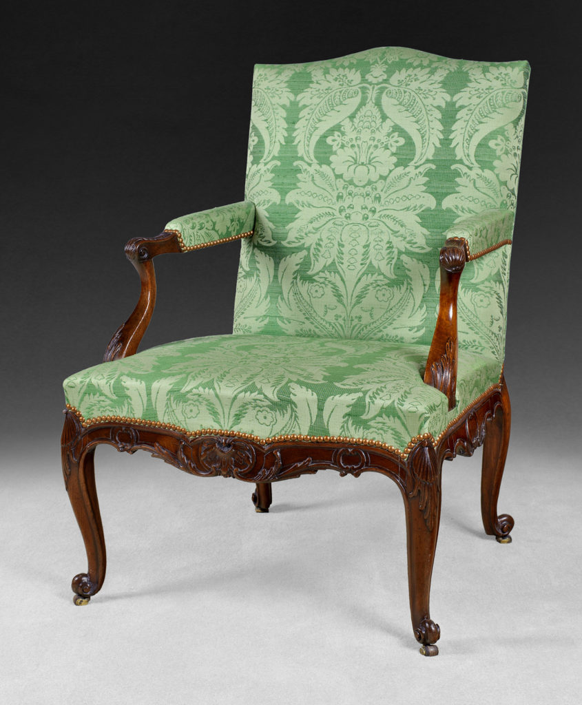 An antique chair in the exhibition