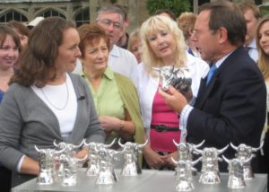 12 Silver Bull's Head Stirrup Cups