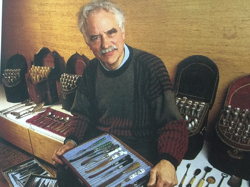 Bill Brown with a set of antique knives