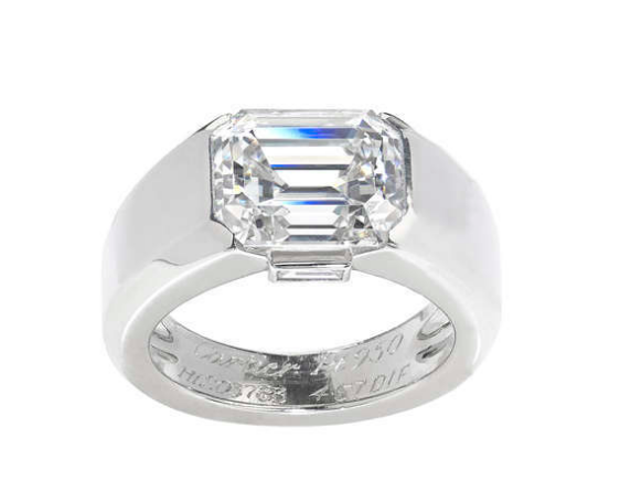 Cartier platinum diamond 'Lia' ring