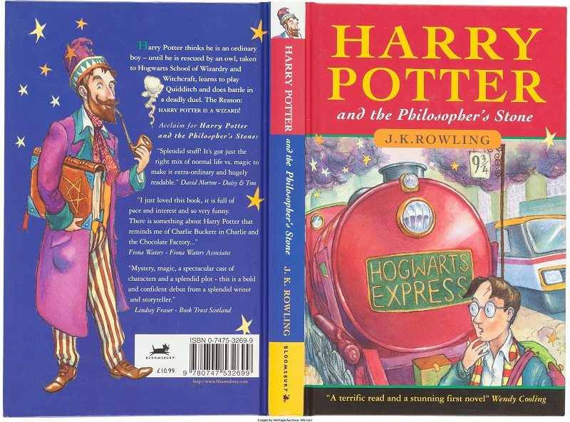 First-edition Harry Potter and the Philosopher's Stone