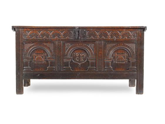 James I antique oak coffer