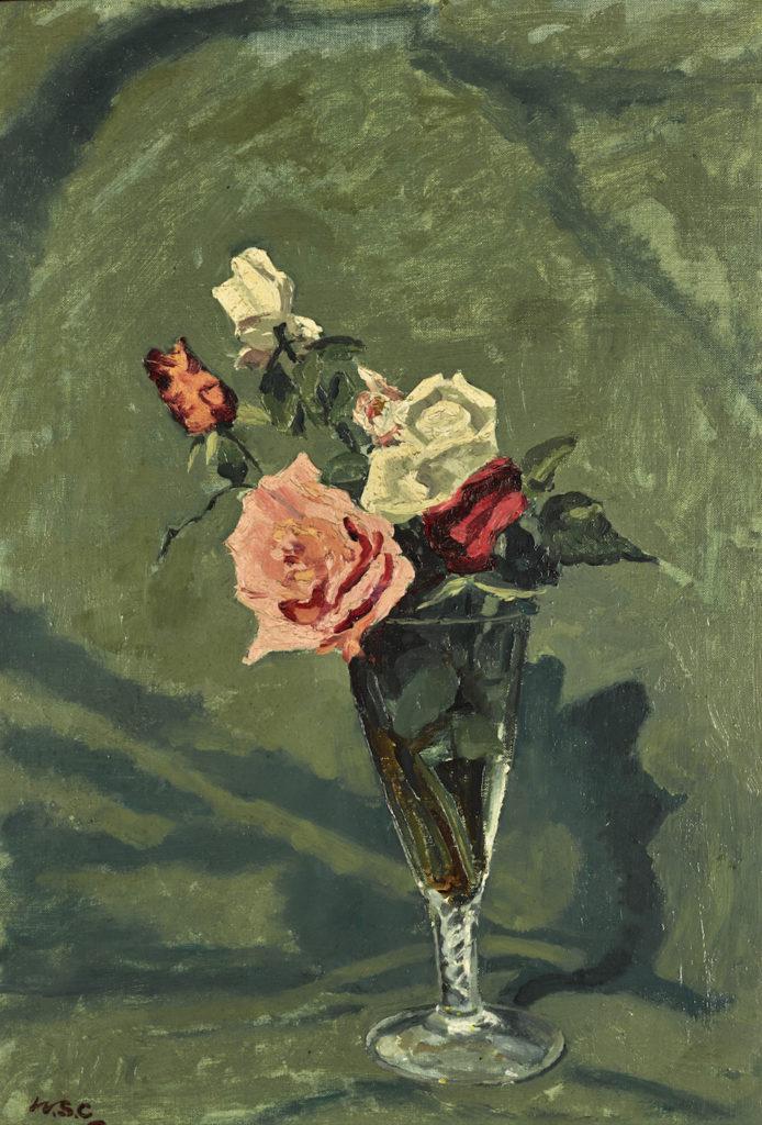 Lot 245 Winston Churchill, Roses in a Vase