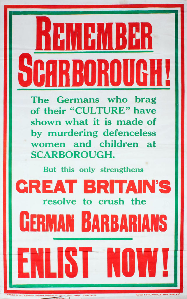 Remember Scarborough WWI poster