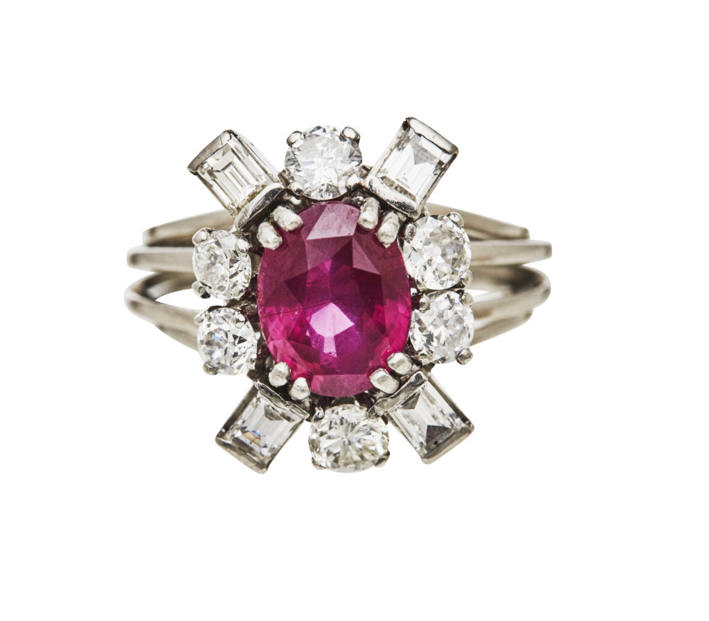 An antique ruby ring