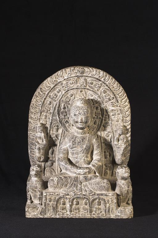 stone Buddhist triad group from the Northern Wei Dynasty