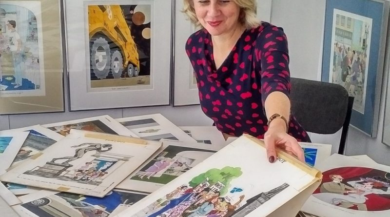 Catherine Southon and collection of Playboy cartoons