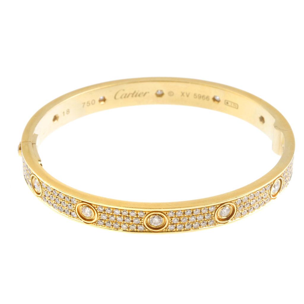 Gold love bangle