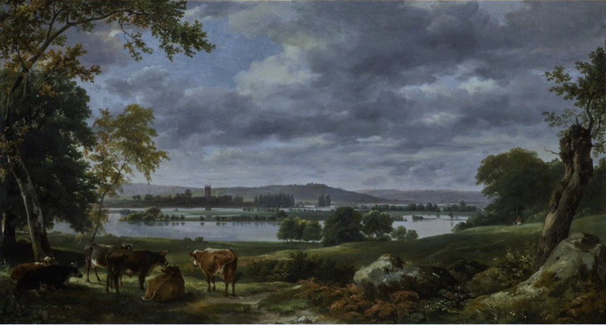 John Constable's Dedham Vale with the River Stour In flood