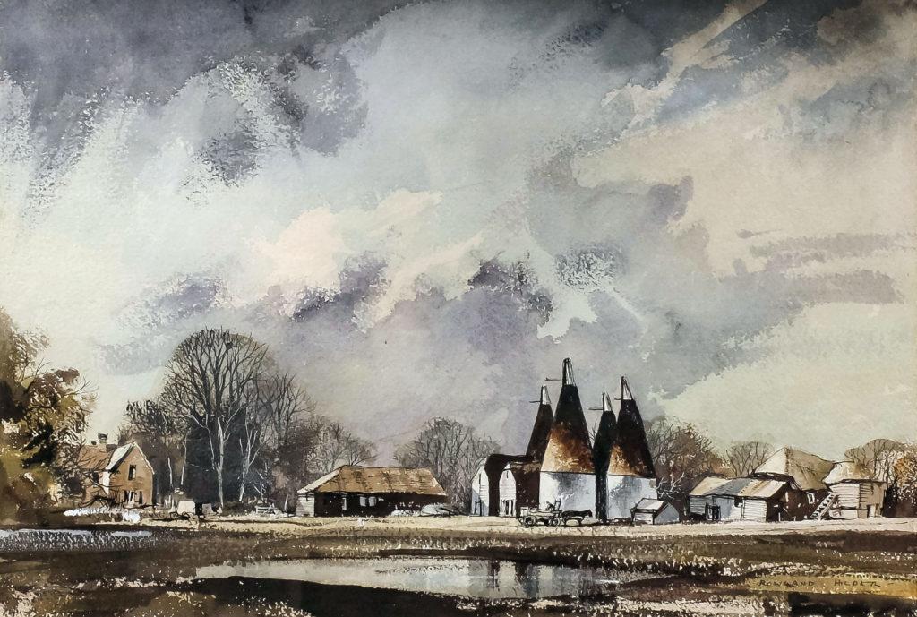 Kent landscape by Rowland Hilder